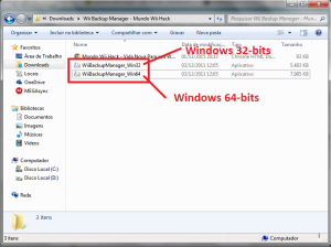 Windows 32-Bits = WiiBackupManager_Win32 WIndows 64-Bits = WiiBackupManager_Win64
