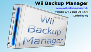 Wii Backup Manager 0.4.5 build 78